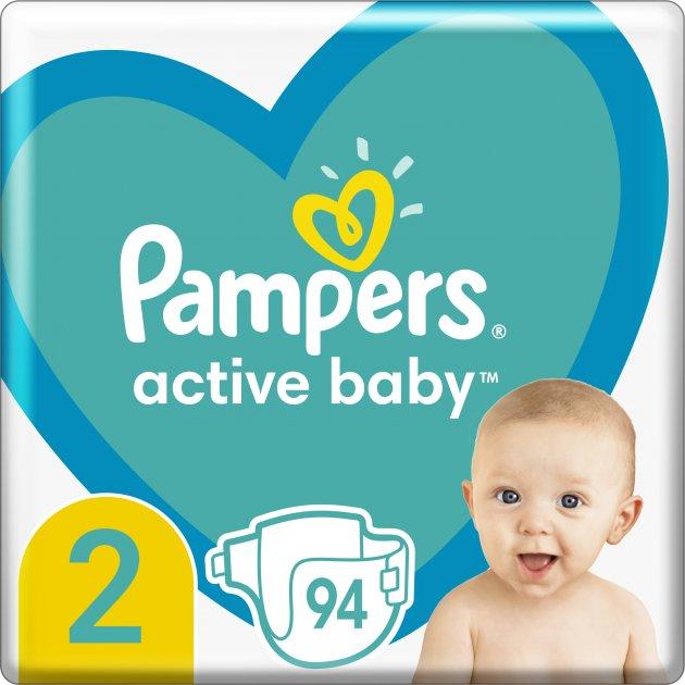 Подгузники Pampers Active Baby Размер 2 (Mini) 4-8 кг 94 шт (8001090948137)