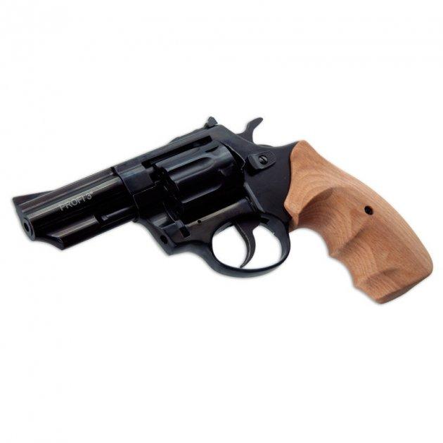 Револьвер під патрон Флобера Zbroia PROFI 3 (чорний / бук) - зображення 1