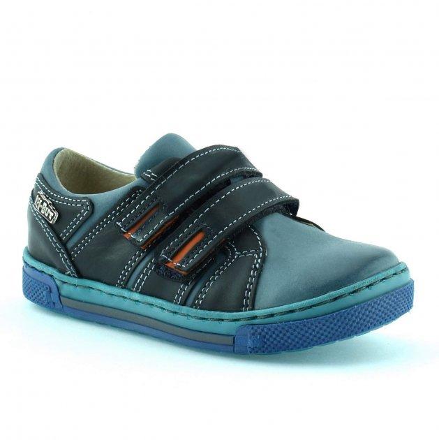 Детские кожаные кеды для мальчика Renbut 23-3266 синего цвета. 29 - изображение 1