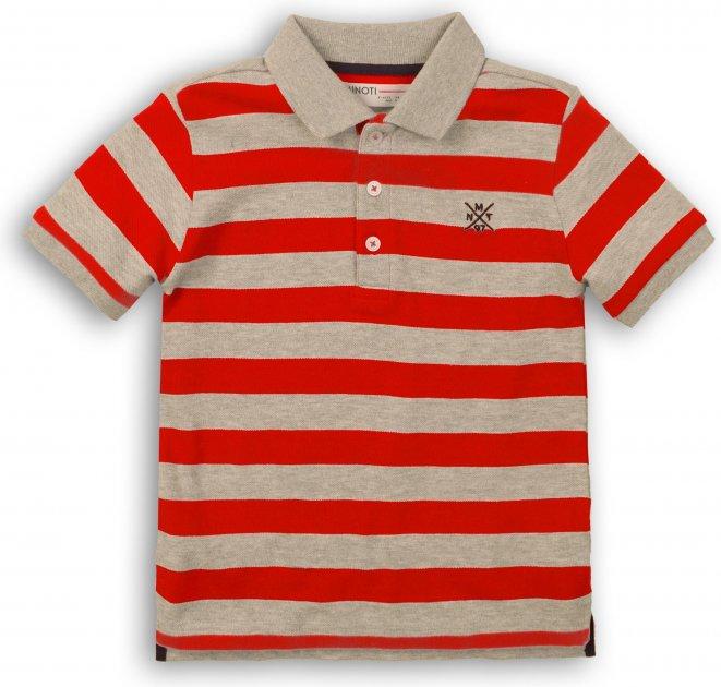 Поло Minoti 1Polost 2 13067 104-110 см Красное с серым (5059030307783) - изображение 1