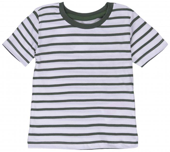 Футболка Minoti 1Stripe 5 13281 74-80 см Зеленая с белым (5059030333096) - изображение 1