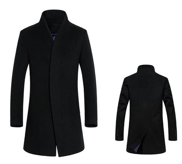 Пальто Mod-Room L ділове Чорне RA-HM10023 - зображення 1