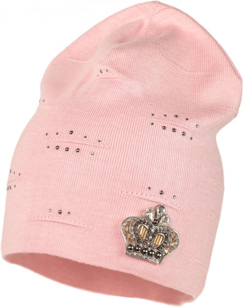 Демисезонная шапка Jamiks BONITA-2 54 см Розовая (5903024090260) - изображение 1