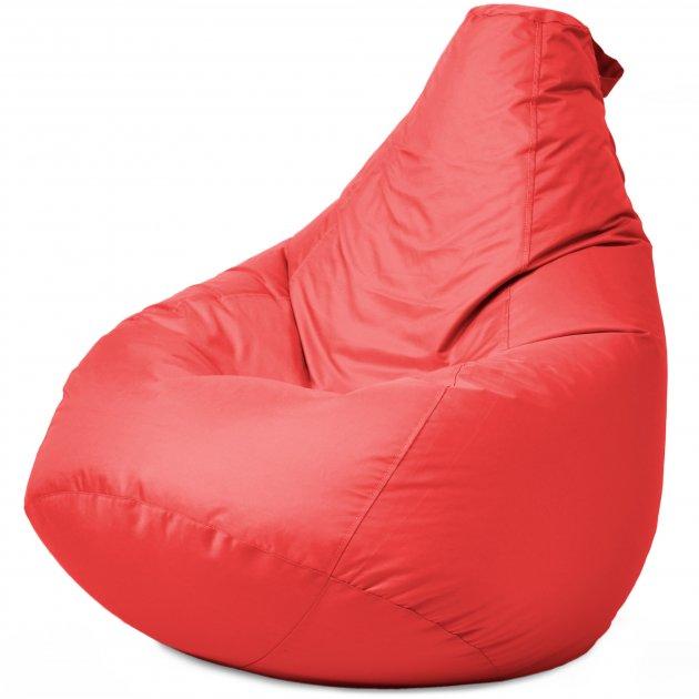 Крісло Мішок Груша Оксфорд 120х85 Студія Комфорту розмір Стандарт червоний - зображення 1