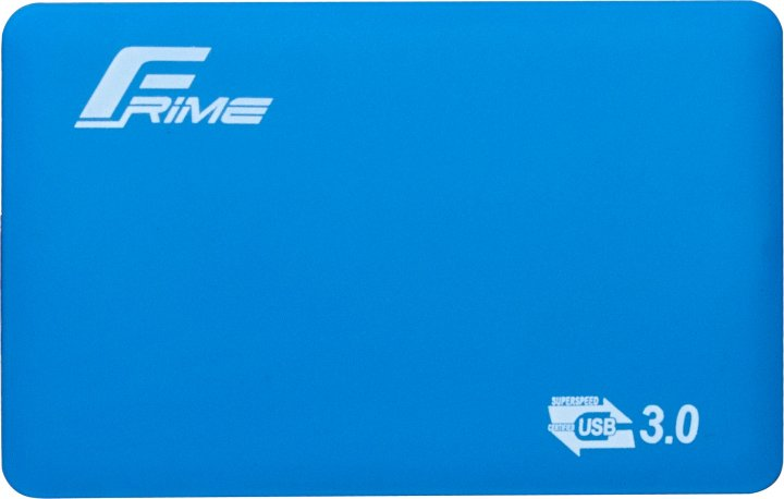 """Зовнішня кишеня Frime для 2.5"""" SATA HDD/SSD Soft touch USB 3.0 Blue (FHE31.25U30) - зображення 1"""