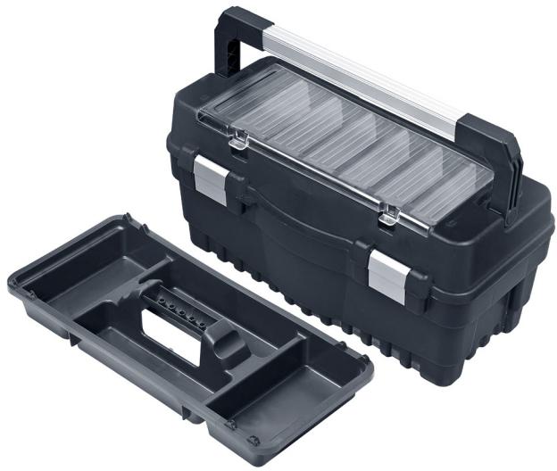 Ящик для инструмента Qbrick System One Formula RS600 Carbo Flex ALU защелки 547 x 271 x 278 мм (SKRRS600FCAFCZAPG001) - изображение 1
