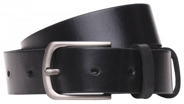 Мужской ремень кожаный Laras 125rmkn21 125 см Черный (ROZ6300004305) - изображение 1
