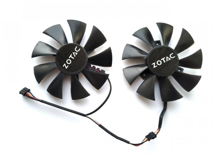 Вентилятор Apistek для відеокарти Zotac GA91O2H (GA91S2H GFY09010E12SPA) комплект 2 шт (№37) - зображення 1