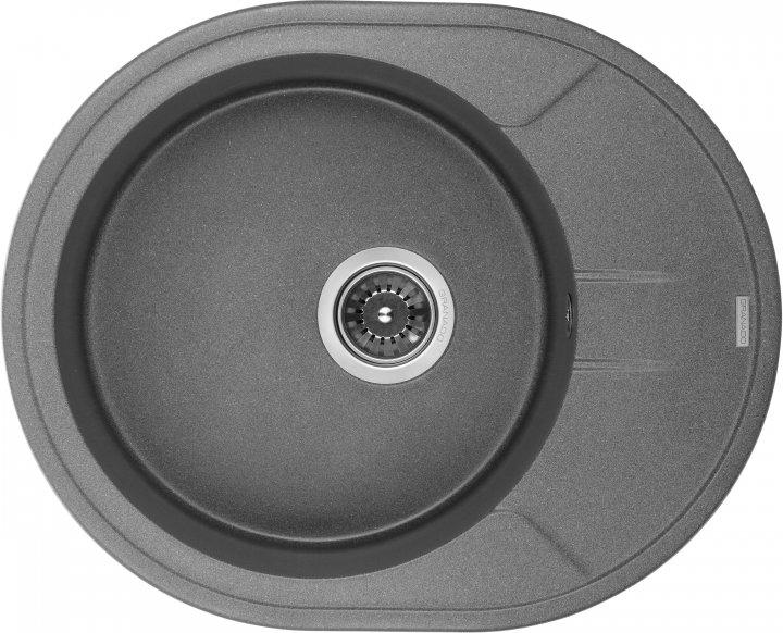 Кухонна мийка GRANADO Marbella Grafito (2909) + сифон одинарний для кухонної мийки Nova - зображення 1