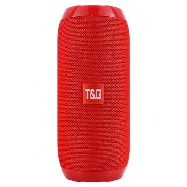 Портативная аккумуляторная Bluetooth колонка влагостойкая TG 117 Red (00607) - изображение 1