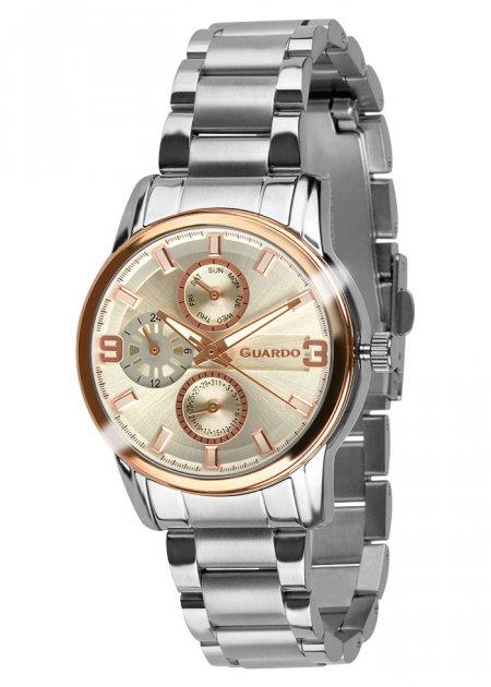 Годинники жіночі Guardo 011944-4 срібло/рожеве золото - зображення 1
