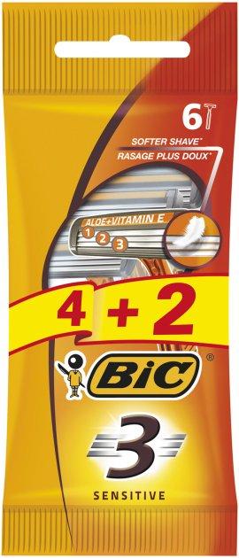 Набор бритв без сменных картриджей Bic Sensitive 3 4 + 2 шт (3086126693279) - изображение 1