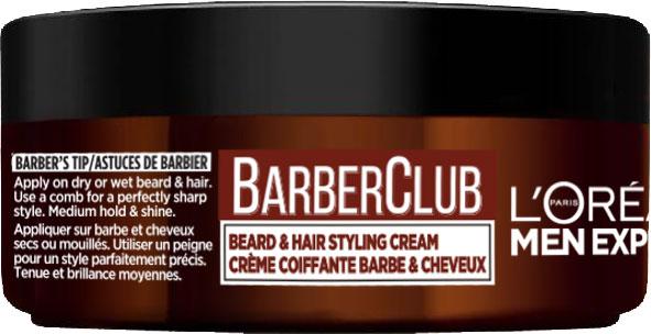 Крем-стайлінг L'Oreal Paris Men Expert Barber Club для бороди та волосся 75 мл (3600523548095) - зображення 1