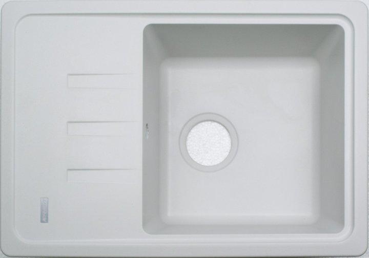 Кухонная мойка гранитная Adamant SLIM білий-01 - изображение 1