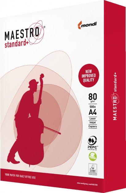 Бумага офисная Maestro Standard+ A4 80 г/м2 B класс 500 листов Белая (MS.A4.80.ST/9003974459028)