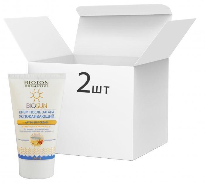 Упаковка крема после загара Bioton Cosmetics успокаивающего 150 мл х 2 шт (4820026152493) - изображение 1