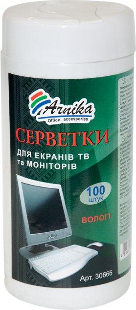 Чистящие салфетки Арника для очистки экранов ТВ и мониторов 100 шт (30666) - изображение 1