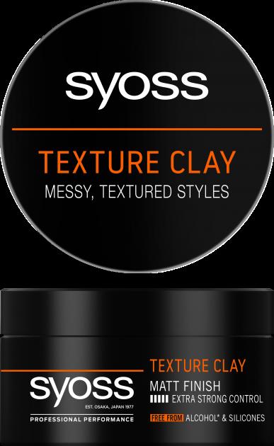 Глина текстурувальна для волосся Syoss Texture Clay Фіксація 5 100 мл (9000101208580) - зображення 1