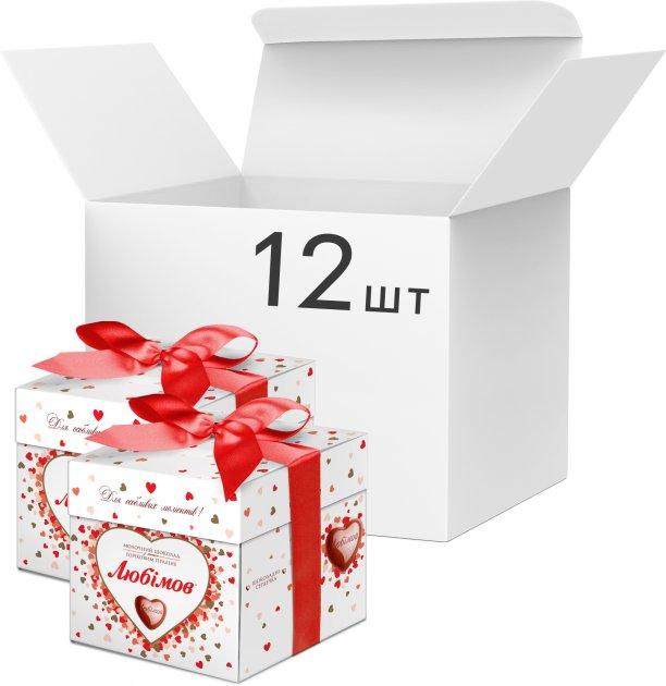 Упаковка конфет Любимов в молочном шоколаде 208 г х 12 шт (4820075500405) - изображение 1