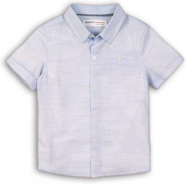 Рубашка Minoti Shore 1 7789 74-80 см Голубая (5059030009175) - изображение 1