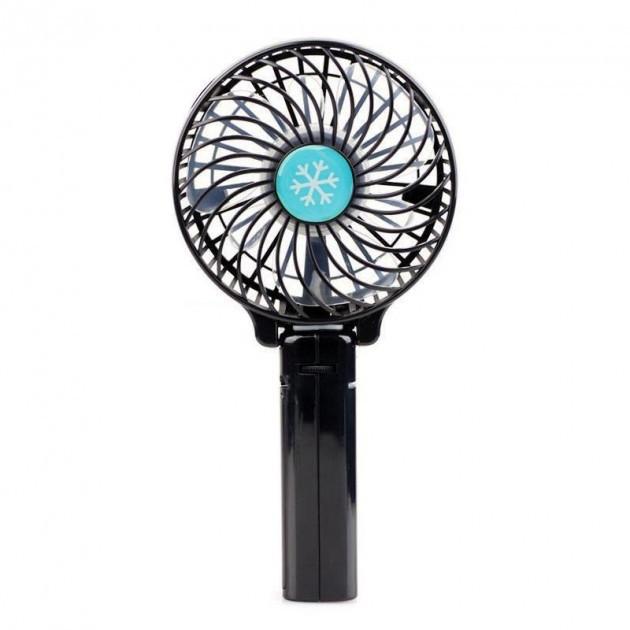 Ручний міні-вентилятор Arivans 11х8 см чорний 01238 - зображення 1