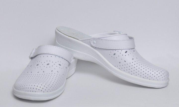 Взуття (сабо) медична жіноча, м'який підп ¢ яточник, Теллус, модель Яна, р. 40, білі - зображення 1