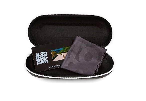Твердый футляр и салфетка Autoenjoy для очков из микрофибры черный - изображение 1