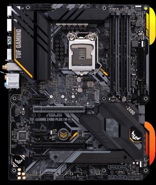 Материнська плата Asus TUF Gaming Z490-Plus (Wi-Fi) (s1200, Intel Z490, PCI-Ex16) - зображення 1