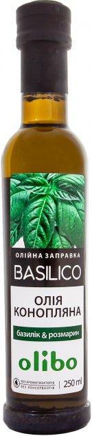 Масляная заправка Olibo Базилик и Розмарин на масле конопли 250 мл (4820184311480) - изображение 1
