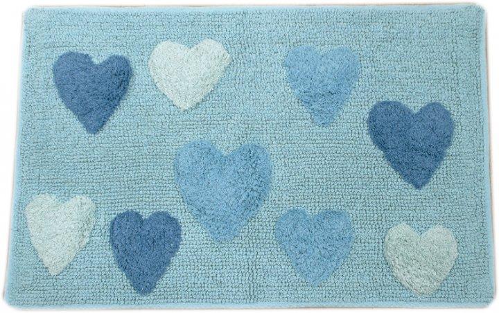 Килимок Irya Hearts azzuro бірюзовий 50х80 (svt-2000022242394) - зображення 1