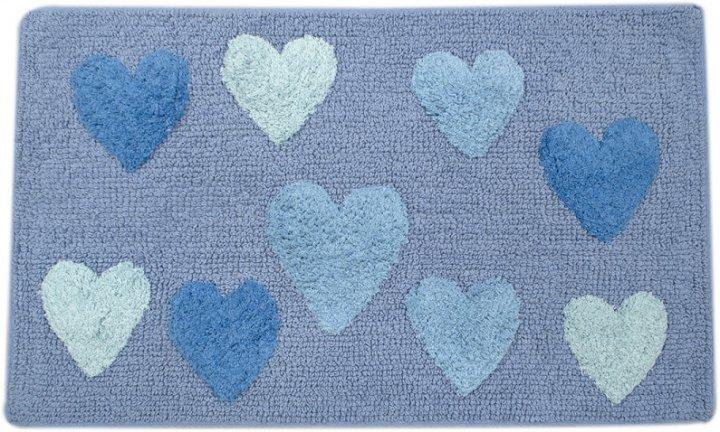 Коврик Irya Hearts blue голубой 50х80 (svt-2000022242387) - изображение 1