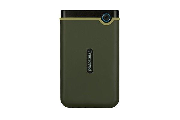 """Зовнішній жорсткий диск HDD 2.5"""" USB 3.0, 2Tb Transcend StoreJet 25M3 Military Green Slim (TS2TSJ25M3G) - зображення 1"""