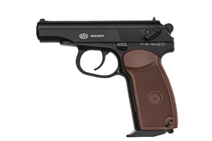 Пневматичний пістолет SAS Makarov Blowback - зображення 1