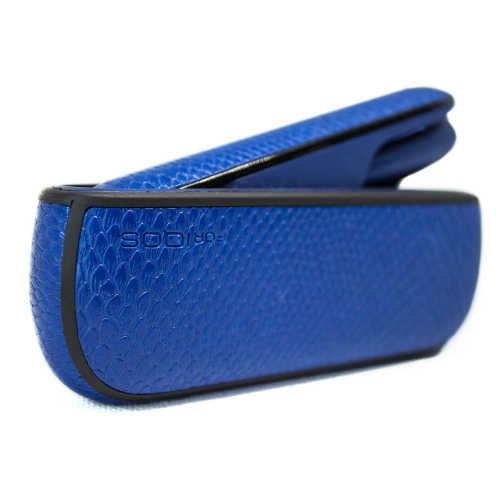 Чохол IQOS 3/3 DUO SNAKE SKIN + бічна панель BLUE - зображення 1