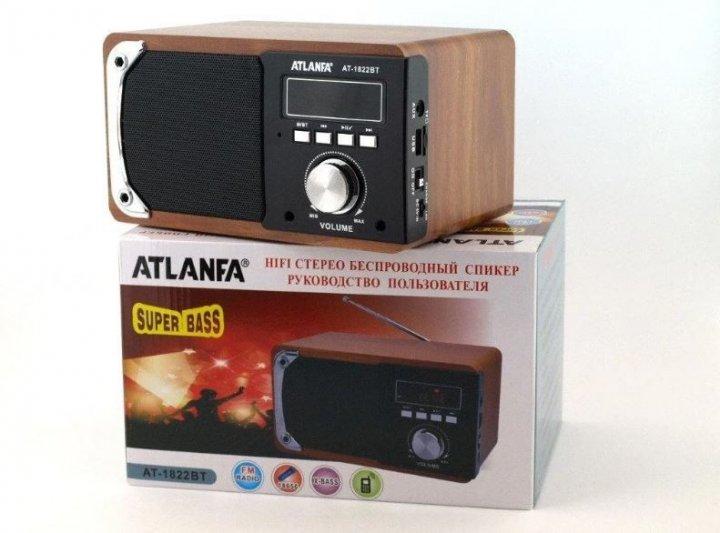 Портативна Bluetooth колонка радіоприймач Atlanfa AT-1822BT з USB накопичувачем Original - зображення 1