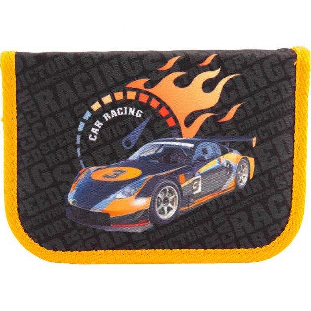 Пенал школьный Kite 621 Sport RacingK18-621-6 Черный - изображение 1