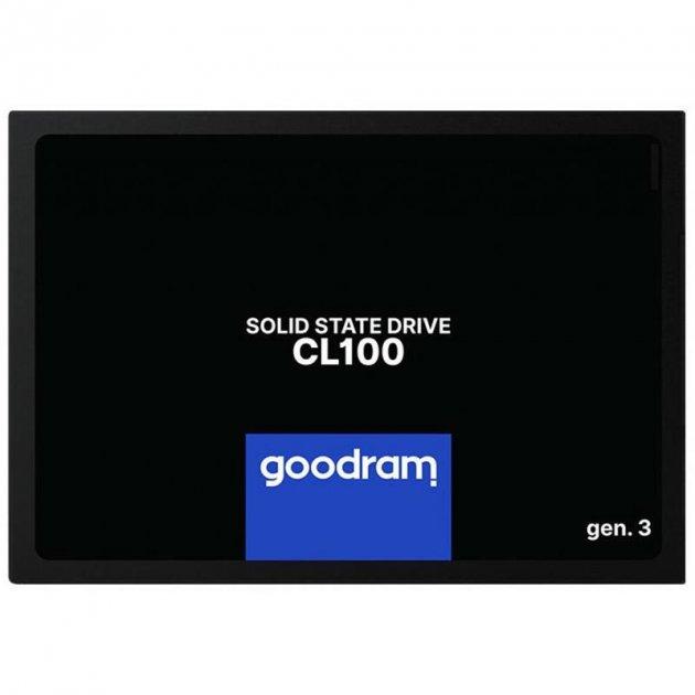 """Накопичувач SSD 240GB GOODRAM CL100 GEN.3 2.5"""" SATAIII 3D TLC (SSDPR-CL100-240-G3) - зображення 1"""