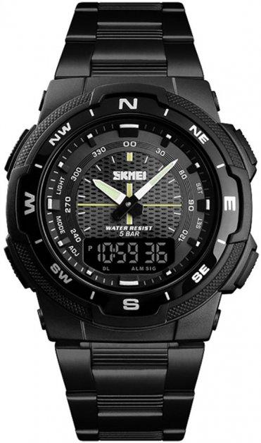 Мужские часы Skmei 1370BOXBKBK Black/Black BOX - изображение 1