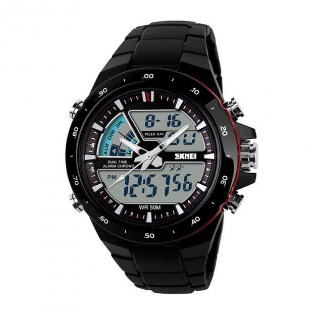 Чоловічий годинник Skmei 1016BOXBKRD Black/Red BOX - зображення 1