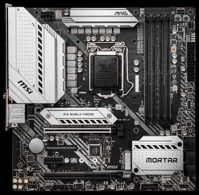Материнська плата MSI MAG B460M Mortar Wi-Fi (s1200, Intel B460, PCI-Ex16) - зображення 1