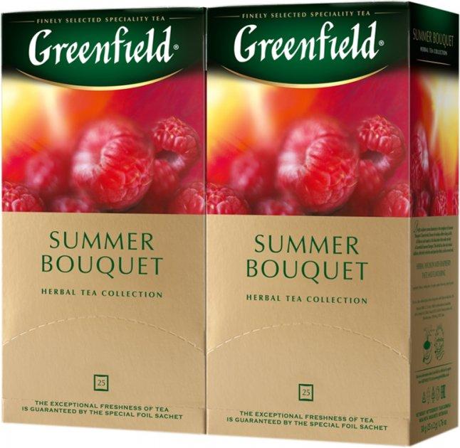 Упаковка чая травяного пакетированного Greenfield Summer Bouquet 25 пакетиков x 2 шт (4823096804590) - изображение 1