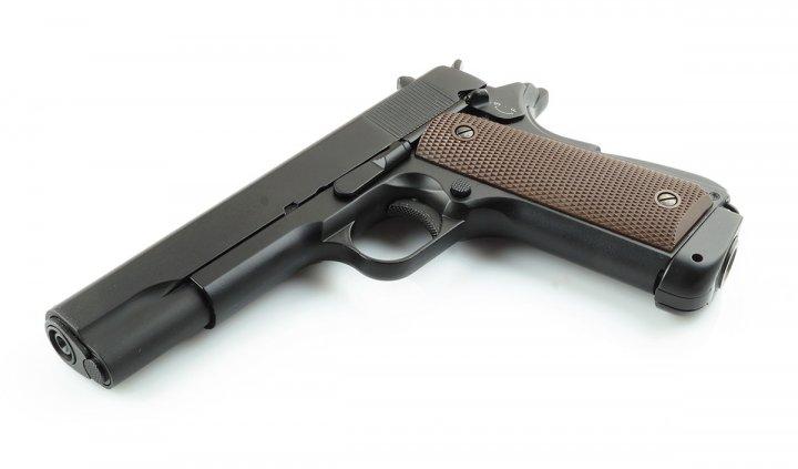 Пневматичний пістолет ZBROIA M1911 Blowback - зображення 1