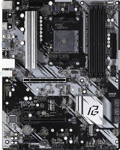 Материнська плата ASRock B550 Phantom Gaming 4 (sAM4, AMD B550, PCI-Ex16) - зображення 1