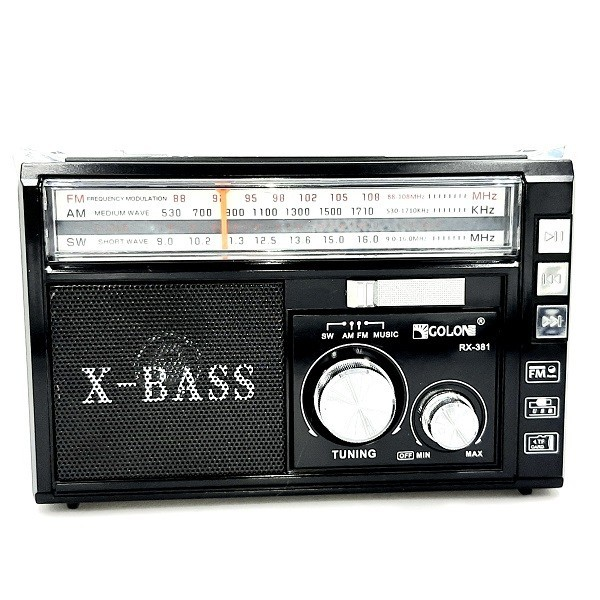 Радиоприёмник GOLON RX-381UAR Black - изображение 1