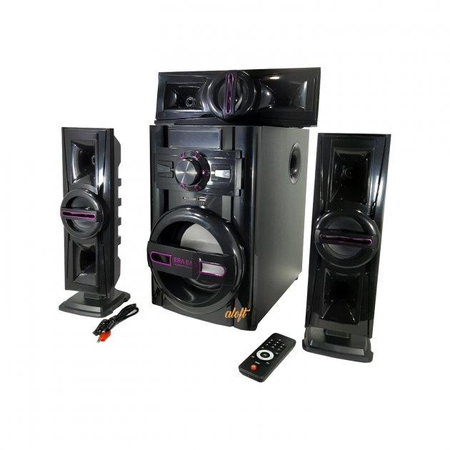 Акустическая система 3.1, музыкальные колонки ERЛ ЕЛR, 60ВТ, USB/SD/AUX/Bluetooth/FM-радио, 12/220V (503) - изображение 1
