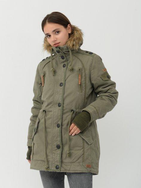Куртка Brandit Ladies Layla Girls Parka 9385.1-M Зеленая (4051773059814) - изображение 1