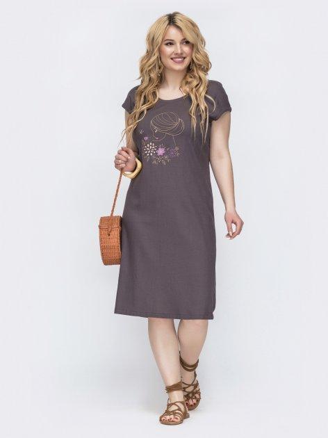 Платье Dressa 46221 48-50 Коричневое (2000005573477) - изображение 1