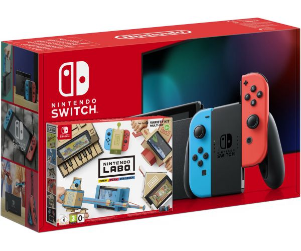 Nintendo Switch Neon Blue-Red (Upgraded version) + Nintendo Labo: Variety Kit - изображение 1