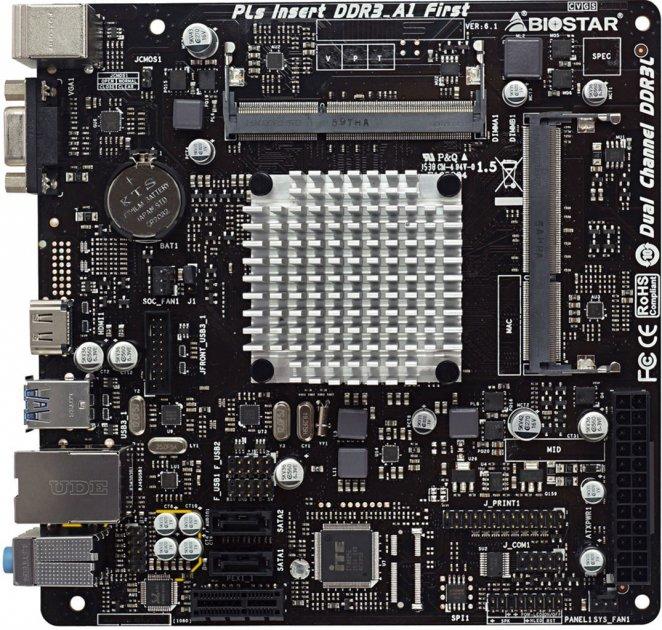 Материнська плата Biostar J3160NH (Intel Celeron J3160, SoC, PCI-Ex1) - зображення 1