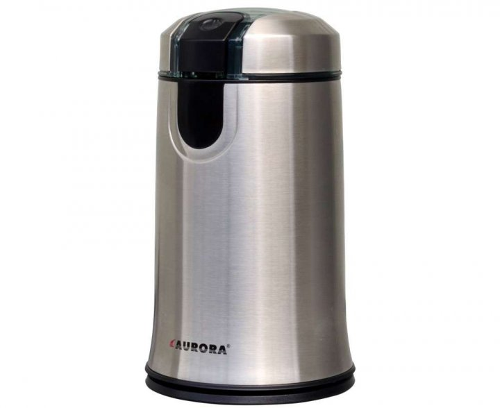 Кавомолка електрична Aurora 348AU 150 Вт кухонний міні подрібнювач для кави горіхів спецій і зернових з металевим корпусом (348AU) - зображення 1
